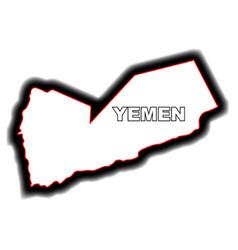 Outline map of yemen vector