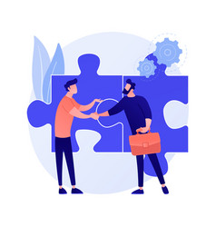 Partnership and collaboration concept vector