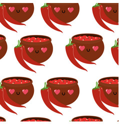 Pepper and sauce design vector