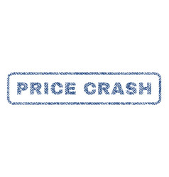 Price crash textile stamp vector