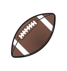 rugball isolated icon athletic equipment vector image