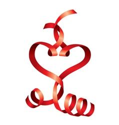 satin heart vector image