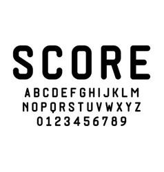 Set alphabets font modern design vector