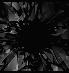 Shards broken glass abstract black explosion vector