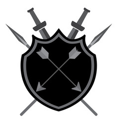 Shield with arrows vector