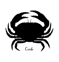 silhouette of brown crab vector image