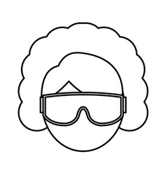 snorkel equipment icon vector image