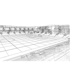 Soccer stadium or football arena concept vector