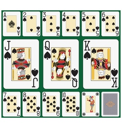 Spade blackjack suit large figures vector image
