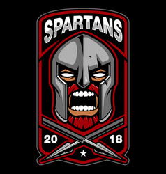 spartan warrior vector image