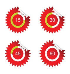 sticker clock red vector image