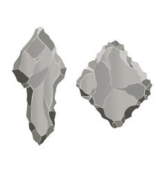 Stone game element cartoon rock ui element vector