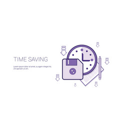 time saving web banner with copy space business vector image