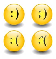 Txt smileys happy and sad vector
