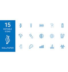 wallpaper icons vector image