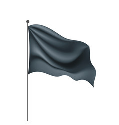waving the black flag on a white background vector image