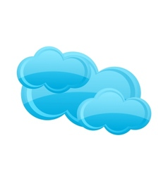 Weather cloud symbol blue color isolated vector
