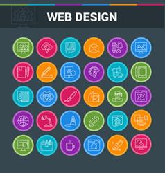 Web design colorful icon set vector