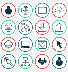 web icons set with group transfer favorite and vector image