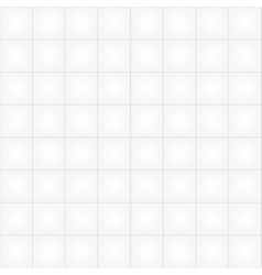 White tile seamless pattern background vector image