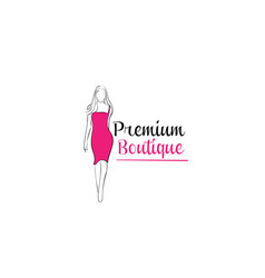 women shape boutique and spa logo vector image