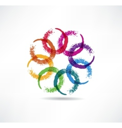 Abstract color icon vector image