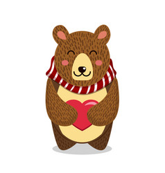 cute toy teddy bear with vector image