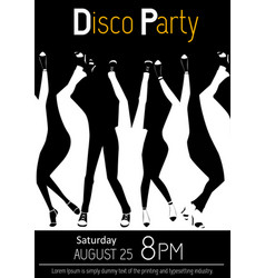 disco party flyer closeup of legs dancing vector image