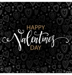 Happy Valentines day cards with hearts pattern vector image vector image