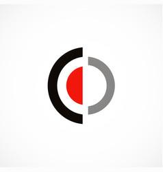 round target shape logo vector image