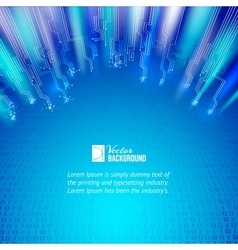 Abstract blue lights background vector image vector image
