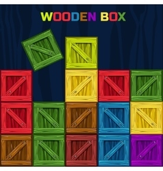 Colors Wooden Box game element vector image