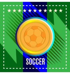 Digital football and soccer ball vector image