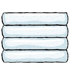 household bathroom towels vector image vector image