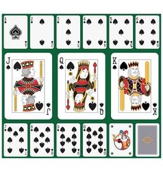 Spade suit large figures vector image