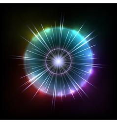 Abstract Colorful Magic Glow Ray Lights vector image
