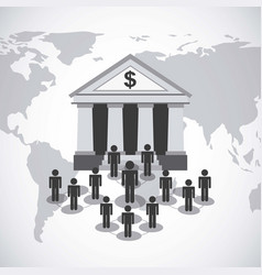 bank and money design vector image vector image