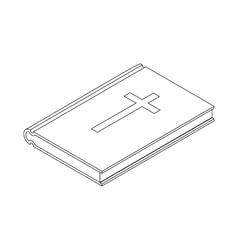 Bible icon isometric 3d vector image