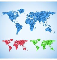 Business world map set vector image