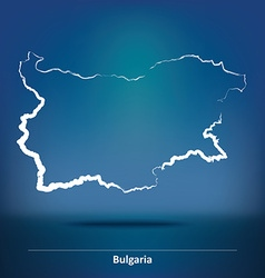 Doodle Map of Bulgaria vector image