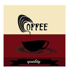 Retro vintage coffee vector image vector image
