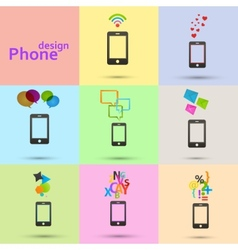 Set of phones icons vector image vector image