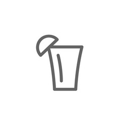 simple tequila shot line icon symbol and sign vector image