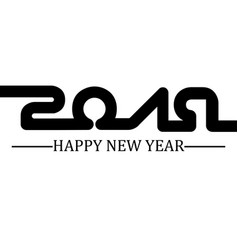 2019 happy new year black simple style three vector image