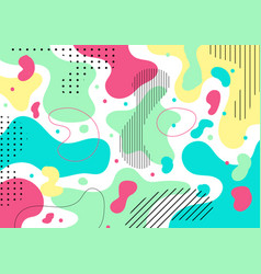 abstract colorful liquid shape and pebble pattern vector image