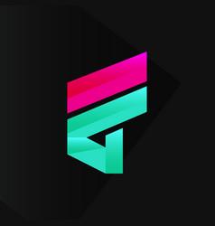 abstract cool modern logo design vector image