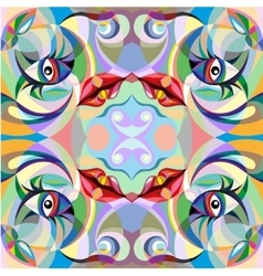 Abstract portrait of woman pattern vector image
