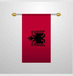 Albania hanging flag vector