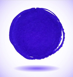 Blue marker circle stain vector