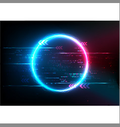 Blue pink digital abstract technology vector